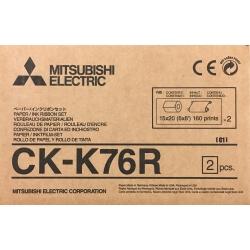 KIT PAPIER MITSUBISHI CK-K76R (10x15)